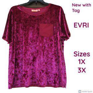 bundle&save NWT EVRI velour like shirt w/ pocket